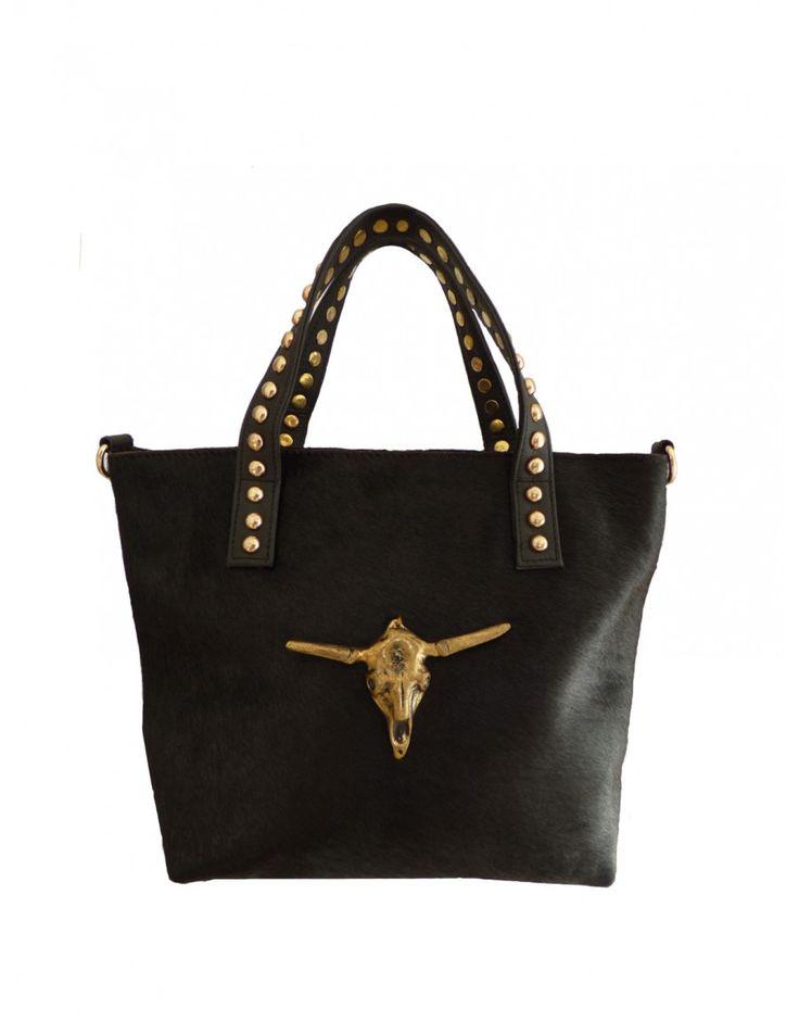 Bolso de Mano de Piel Color Negro BS102 - Bolsos de Mujer Online - Zapatos y Bolsos