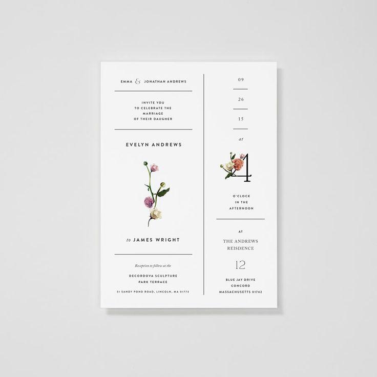 Wildflower Lush Floral Invitation — Venamour