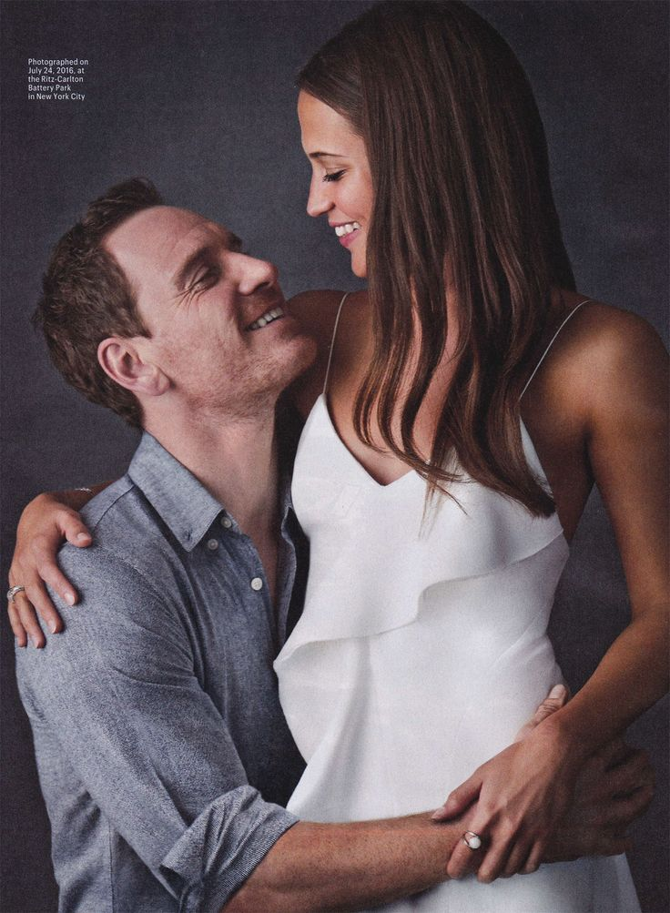 Michael Fassbender & Alicia Vikander - Entertainment Weekly.