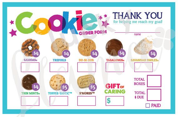 1000 ideas about order form on pinterest free for Girl scout order form template