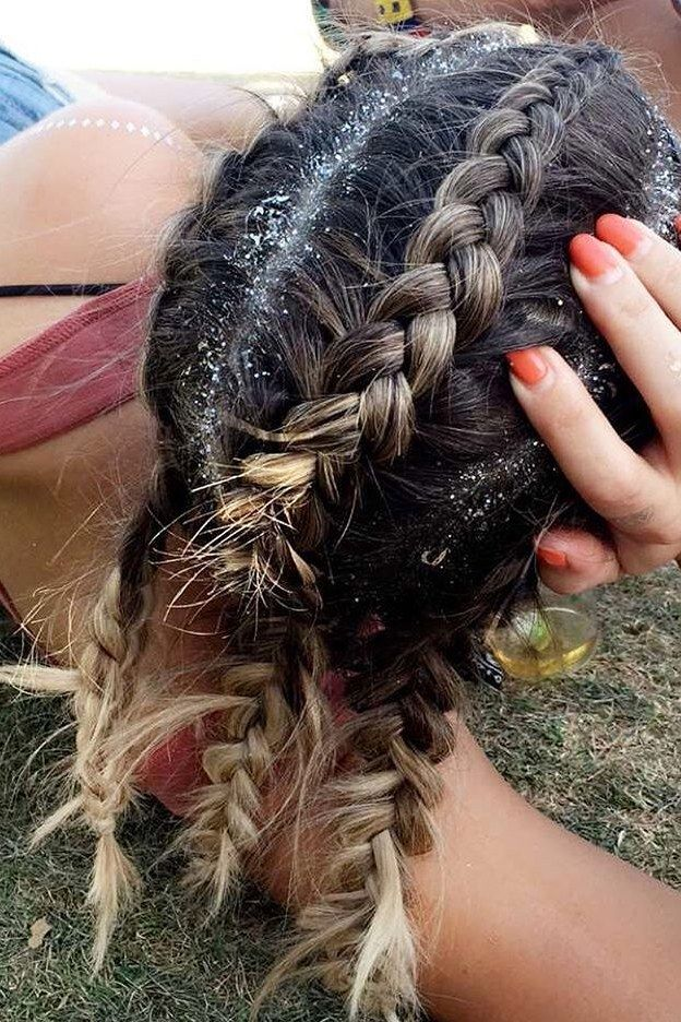 20 Photos That Prove Glitter Roots is The Official Hairstyle of Festival Season  All Things