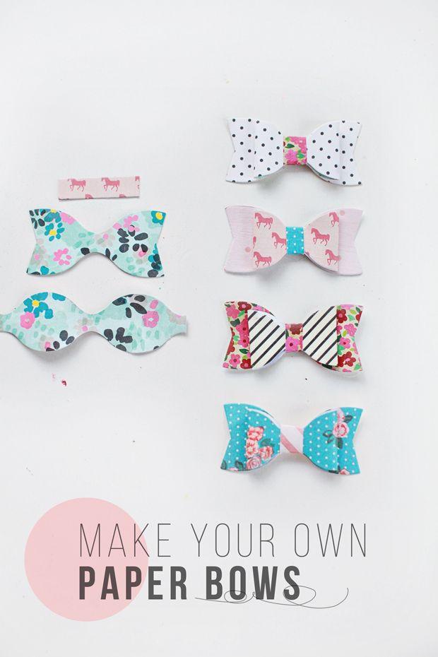 DIY: Paper Bows - Dear Lizzy