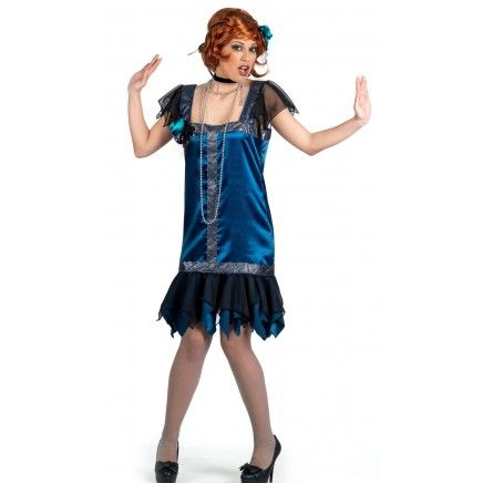 Disfraz de charlestón azul deluxe
