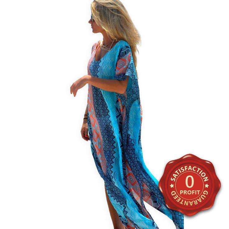 Купить товар Летом приморский женщин геометрическая пляж прикрыть платья шик графический майами бич кафтан пончо халат де Plage в категории Сокрытия на AliExpress.