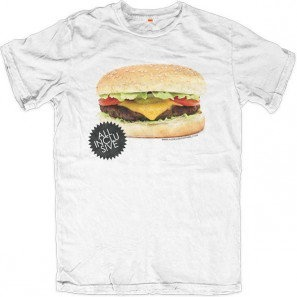 Tasty Cheeseburger made in Italy! from LA to NY Allinclusive Apparel Ladies T-shirt
