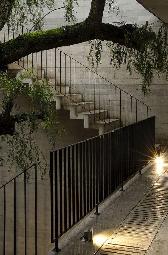 Metal Stair   Credits unknown  Exterior HandrailStair  Best 20  Metal stairs ideas on Pinterest   Steel stairs  Steel  . Exterior Metal Stair Handrails. Home Design Ideas