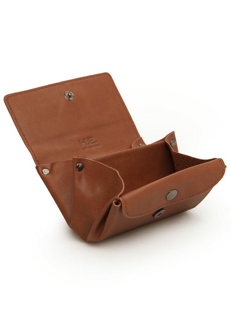 Triple compartment coin purse - Leather goods - Men - H.E. BY MANGO