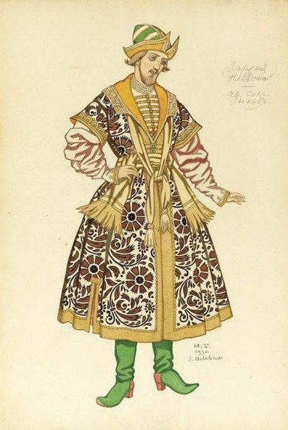 Bilibin_Costume design for the Opera-The Tsars Bride