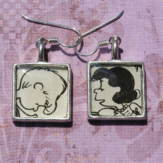 Lucy Van Pelt Schroeder Peanuts Gang Earrings french earwires