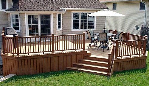 Backyard deck. Attach to wrap around porch. | Decks ...
