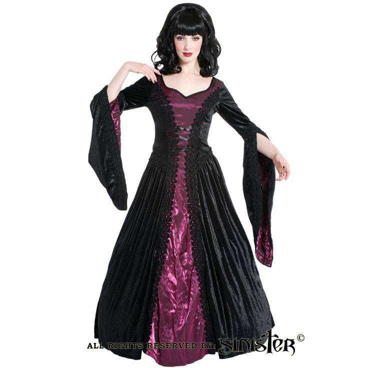 Velvet and taffeta medieval gothic dress by Sinister (471) www.sinister.nl
