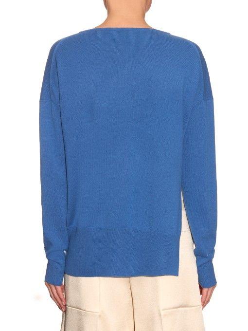 Tibi Asymmetric-seam cashmere sweater