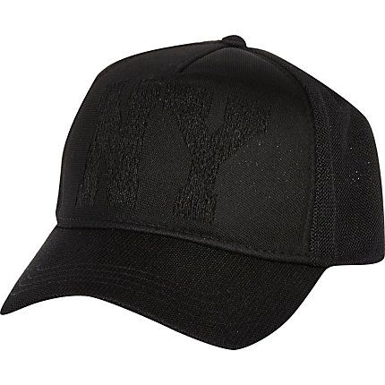 Black mesh trucker cap £15.00