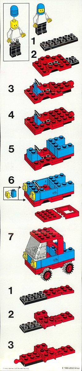 Auto met aanhanger Lego 6654