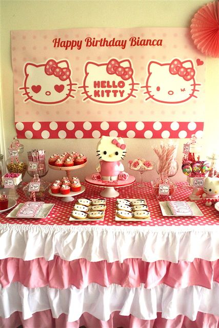 I love so much about this, especially that cake!  Will attempt if the girls wanna do Hello Kitty again. :)