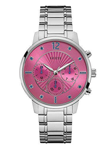 GUESS Womens Quartz Stainless Steel Casual Watch ColorSilverToned Model U0941L3 ...