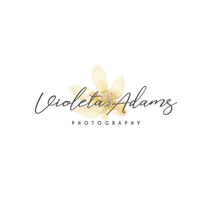 Logotipo y marca de agua, Logotipo flor acuarela, Logo firma y marca de agua, floral logo, watercolor logo #logo #logotipo #florallogo