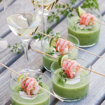 Läskande avokadogazpacho