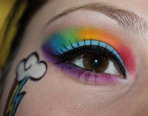 regenbogen make up mein kleines pony kostüm #makeup