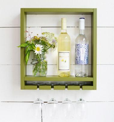 DIY Hanging wine bottle and wine glass rack // Fali borospohár és bortartó házilag fából // Mindy - craft tutorial collection // #crafts #DIY #craftTutorial #tutorial