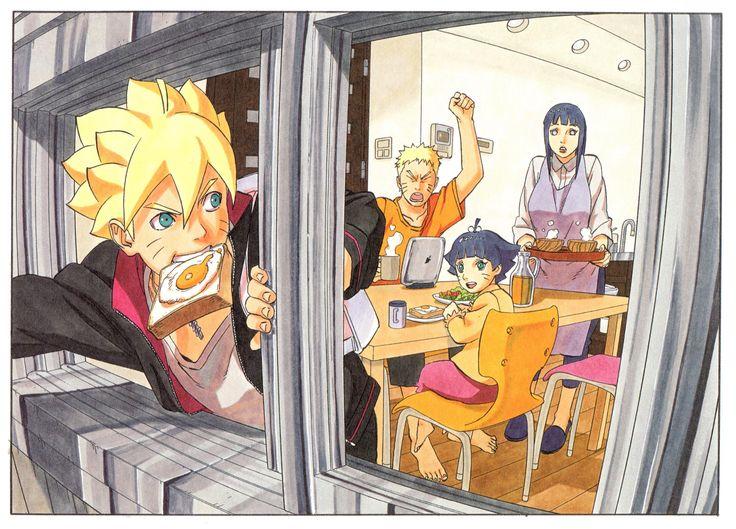 Anime Boruto  Himawari Uzumaki Boruto Uzumaki Hinata Hyūga Naruto Naruto Uzumaki Fondo de Pantalla