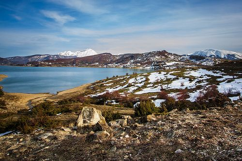 Lago di Campotosto e Gran Sasso