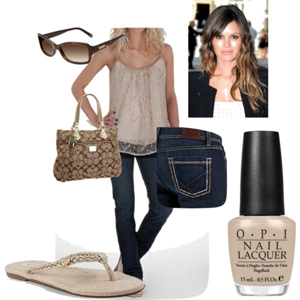 Nice outfit:)Nice Outfit, Nail Polish, Polyvore Tanks, Ombre Hair, Vans Gogh, Golden Summer, Flip Flops, Opi Nails, Nails Polish