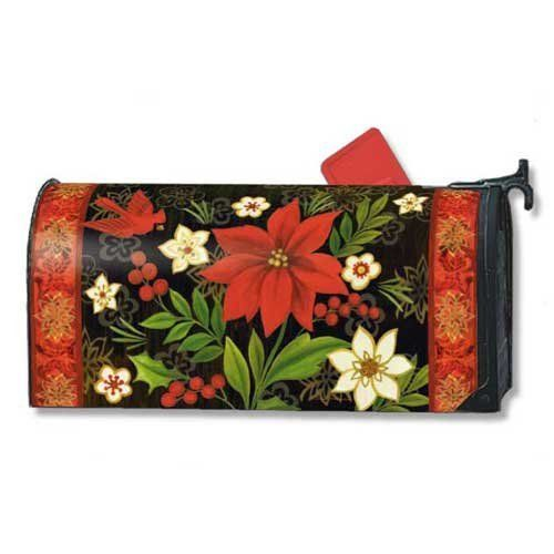 "Christmas Flora Mailwraps Magnetic Mailbox Cover by MagnetWorks. $15.95. Vinyl coated and screen printed for long lasting beauty.. Decorative mailbox covers include 3 sets of self-adhesive numbers.. Mailwraps fit standard metal mailbox 6.5"" wide and 19"" long.. Snaps into place with 2 strong magnetic strips.. CHRISTMAS FLORA MailWraps® Magnetic Mailbox Cover MailWraps® mailbox covers attach securely with a strong magnetic strip along each side of the cover. This feature ..."