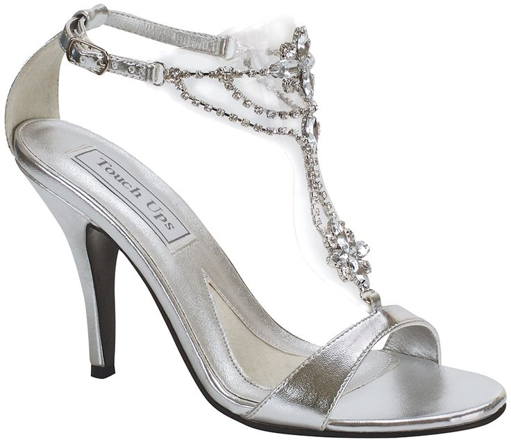 silver touch ups princess bridal shoes 6199 sparkling jewels are smartly set on clear
