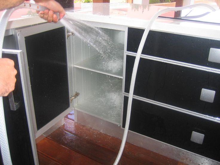 Mobiliario de cocinas 100 lavable 100 aluminio muebles for Armado de gabinetes de cocina