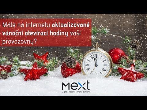 Aktuální otevírací hodiny v době vánočních svátků - Mext