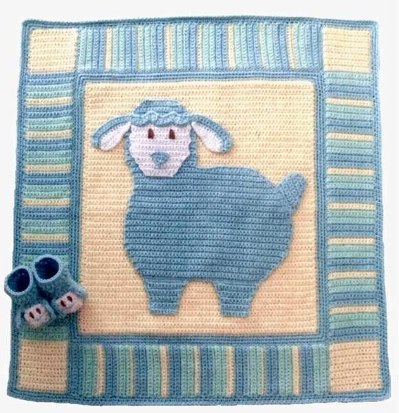 Picture of Lullaby Lambs Baby Blanket & Booties