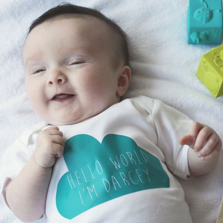 Unique, personalised new baby grow gift | New baby ...