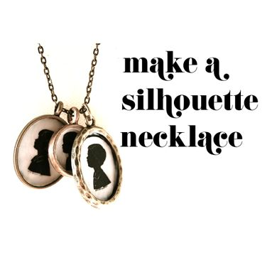 How to Make A Custom Silhouette Necklace #DIY #Mothersday