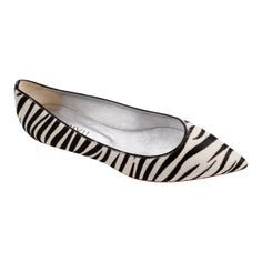 Need a pair of zebra print pointed toe flats