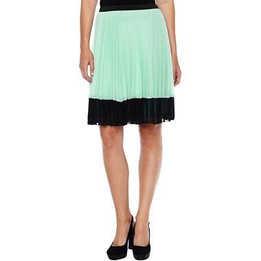 worthington 174 pleated colorblock skirt jcpenney stylish