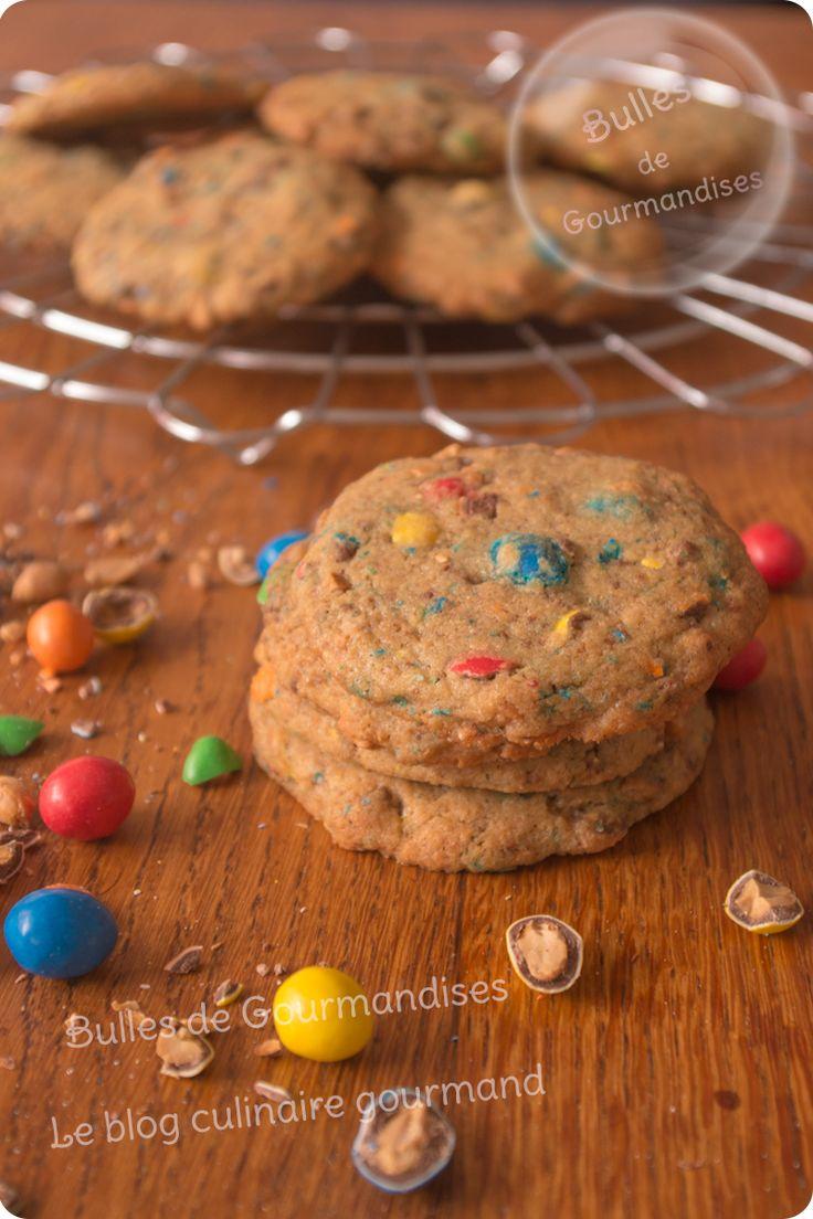 Cookies aux M&M's cacahuètes ! | Bulles de Gourmandises #cookies #mms #m&ms #recette