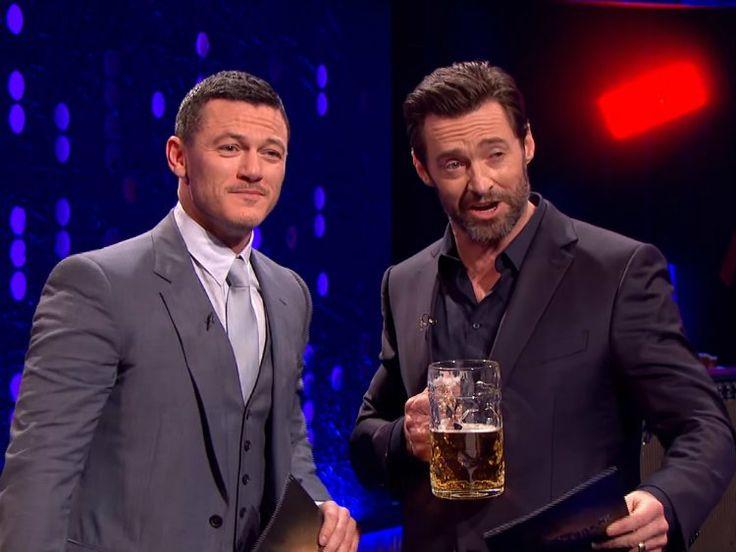 Hugh Jackman and Luke Evans Have a 'Gaston' Sing-Off