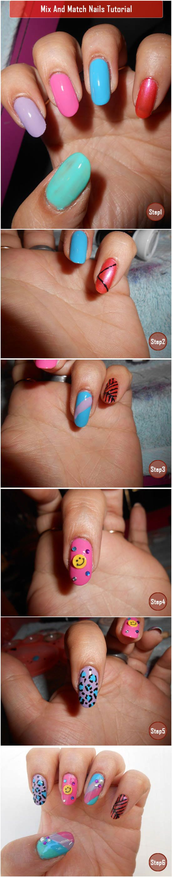 Mix And Match Nails Tutorial