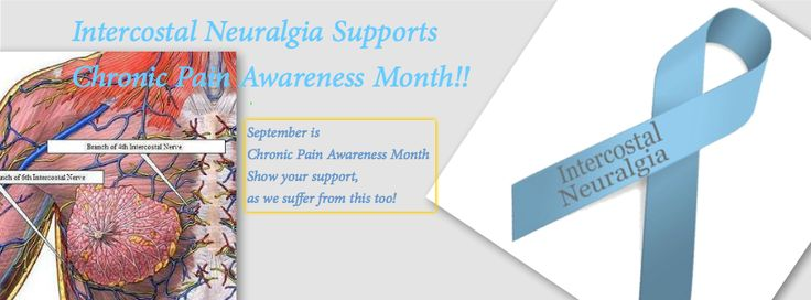September is #ChronicPain Awareness Month!  #Intercostal #Neuralgia