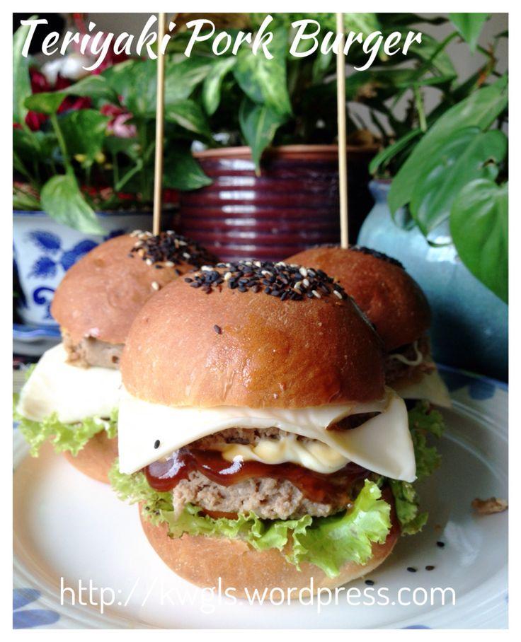 Heart Attack Oven Baked Healthy Teriyaki Pork Burger