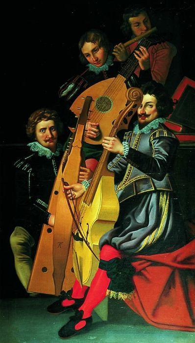 Christian 4.s musikere. Christian 4. var en meget alsidig konge og gik også meget op i musik.