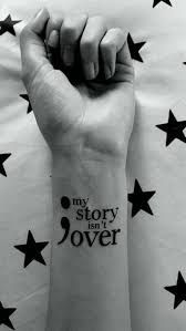 Image result for semicolon tattoo placement