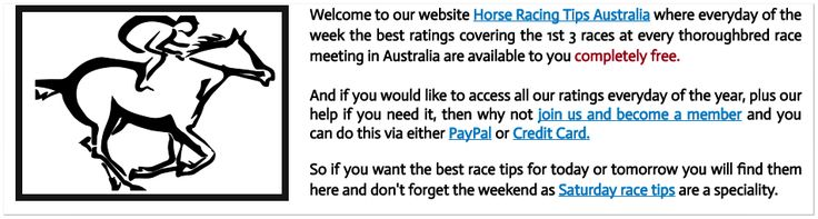 Saturdays August 20th Horse Racing Information:  This Saturdays free horse racing tips are now posted at   www.freehorseracingtipsaustralia.com/saturdays-horse-racing-tips   and here's hoping for a really great days racing so great luck to you as well if you are having a wager today and I will have some more sports news for you a bit later.