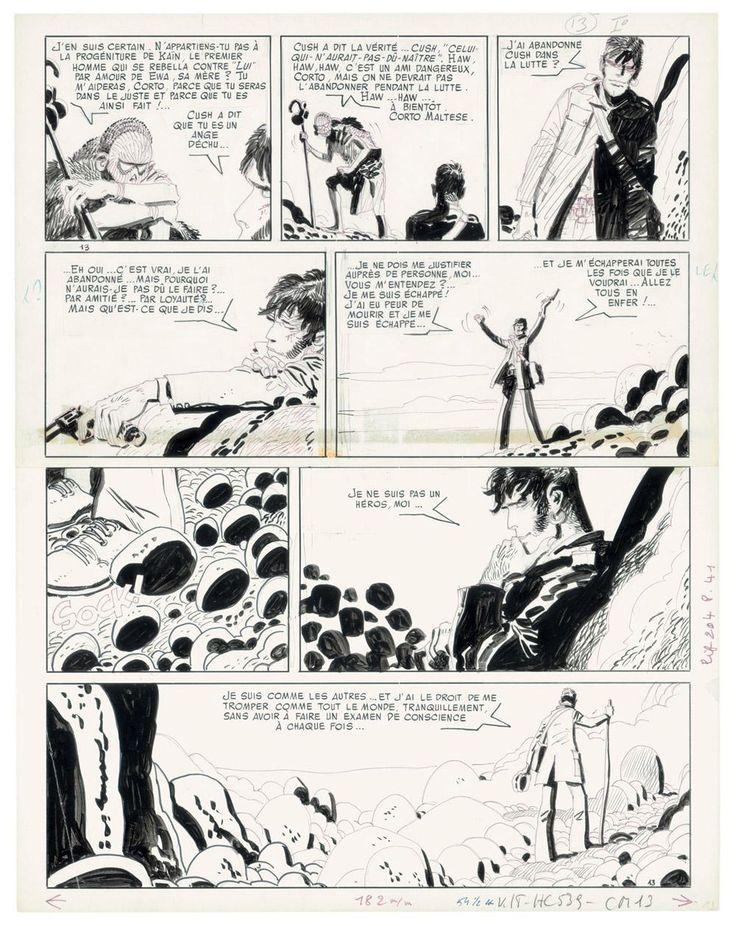 Corto Maltese / Hugo Pratt #hugopratt #fumetto #arte #disegno #cortomaltese