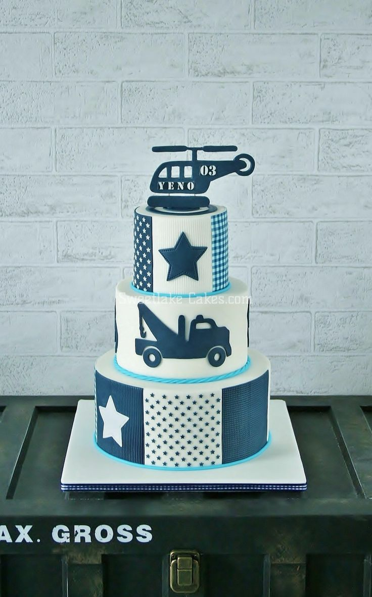 Birthday Cakes - Cake for cool boys that turn 3