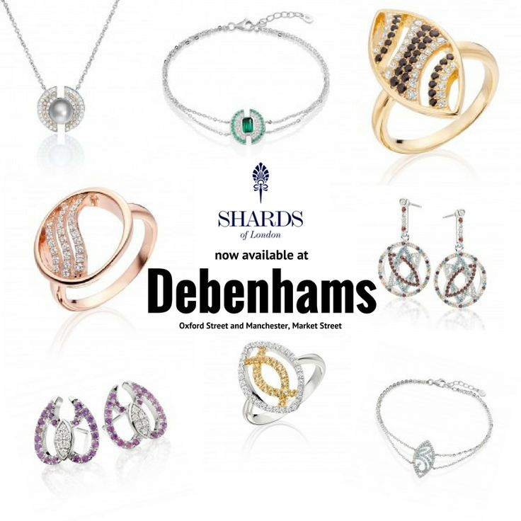 We are now available at both Debenhams on Oxford street and in Manchester on Market Street 🇬🇧 http://shardsoflondon.com/about  #Jewellery