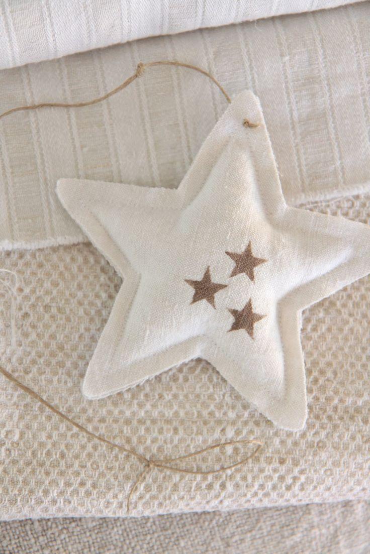 Handmade antique linen stars _ Modern Country