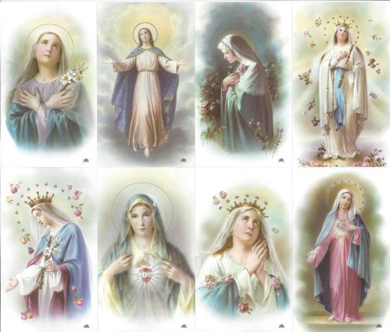 Queen of Heaven - Sheet of 8 Images as Shown - Laminated