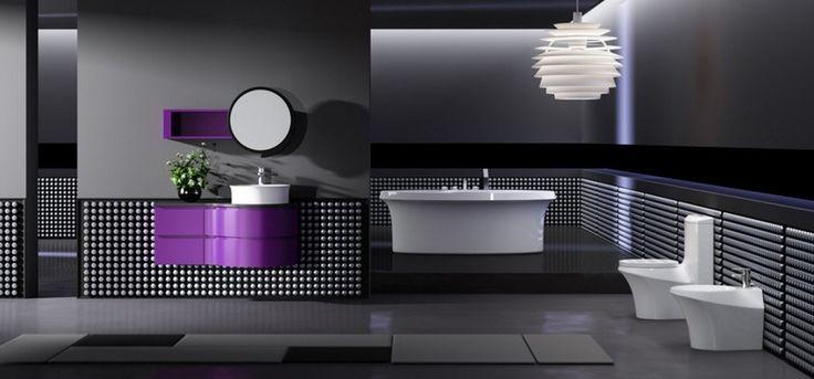 Siyah Renk Banyo Dekorasyon Fikirleri